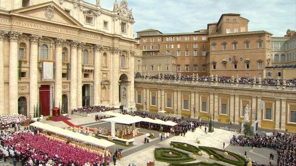cerimonia della canonizzazione di Giovanni Paolo II e Giovanni XXIII