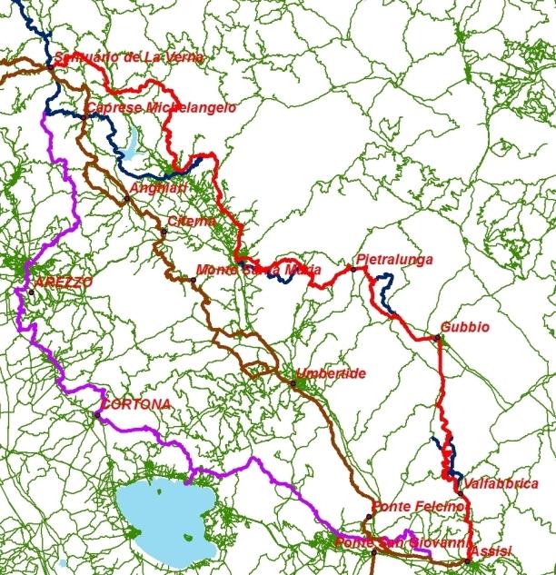 itinerari vie san francesco